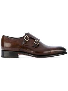 туфли с двойным ремешком Santoni