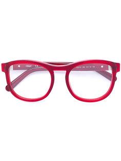 очки в круглой оправе из ацетата Chloé Eyewear