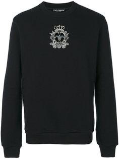 толстовка с вышивкой эмблемы Dolce & Gabbana