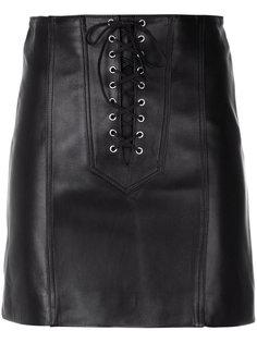короткая юбка со шнуровкой  Manokhi
