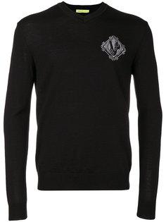свитер с вышитой нашивкой Versace Jeans