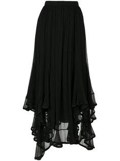 юбка с неровным подолом Chloé