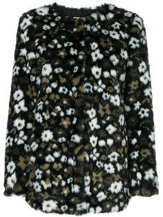 куртка с жаккардовым цветочным узором и искусственным мехом  Michael Michael Kors