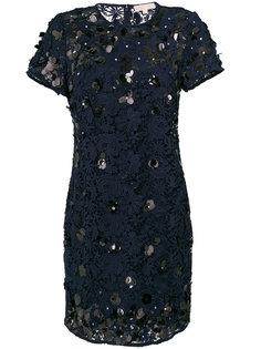 гипюровое платье-шифт с отделкой пайетками Michael Michael Kors