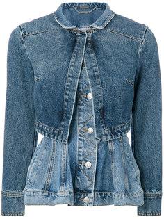 джинсовая куртка с баской Alexander McQueen