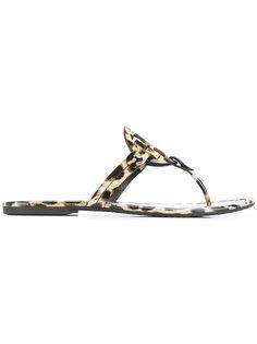 леопардовые сандалии Miller Tory Burch