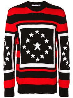 вязанный свитер со звездами Givenchy