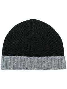 шапка с деталью в рубчик Eleventy