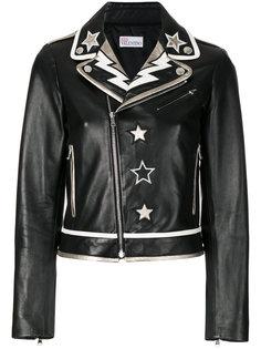 байкерская куртка с нашивками звезд Red Valentino