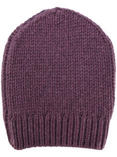 шапка-бини с отделкой в рубчик Eleventy