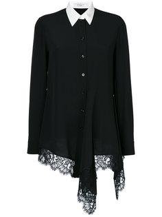 асимметричная рубашка с кружевной отделкой Givenchy