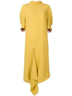 асимметричное платье-миди Marni
