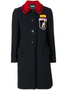 пальто на пуговицах с вышивками Miu Miu