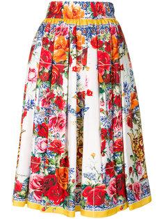 юбка с принтом Majolica  Dolce & Gabbana