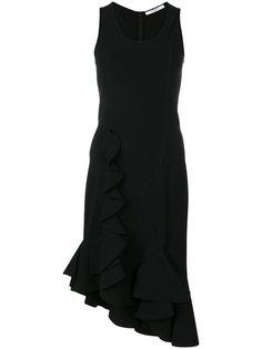 приталенное платье с оборками Givenchy