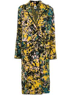 пальто с эффектом разбрызганной краски M Missoni