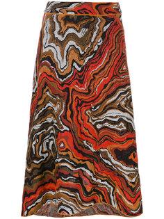 юбка с завышенной талией и принтом  M Missoni