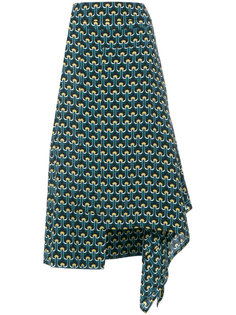 асимметричная юбка с принтом Portrait  Marni