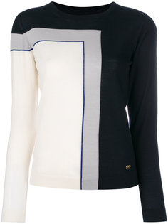 """свитер дизайна """"колор-блок""""  Salvatore Ferragamo"""