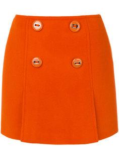 юбка мини на пуговицах  Prada