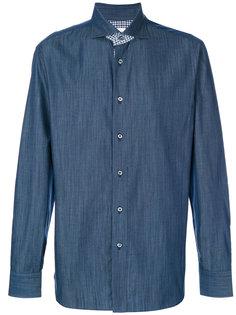 рубашка с клетчатыми вставками Brioni