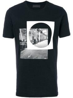 футболка с принтом-кругом Diesel Black Gold