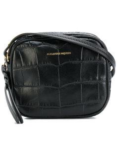 сумка через плечо с эффектом крокодиловой кожи Alexander McQueen