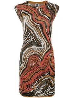 вязаное платье с абстрактным узором M Missoni