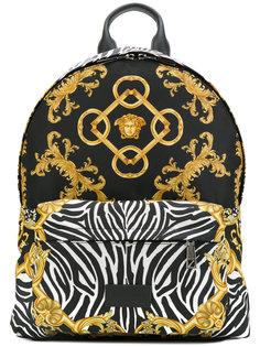 """рюкзак в стиле """"барокко"""" с зебровым принтом Versace"""