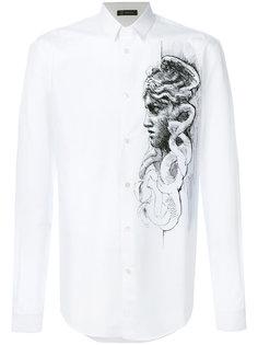 рубашка с контрастной заплаткой Versace