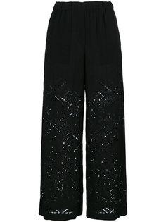 широки брюки с открытой вышивкой Theory