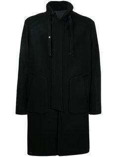 пальто средней длины с высоким воротом Juun.J
