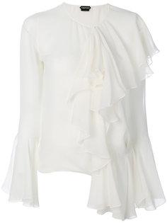 блузка с оборками Tom Ford