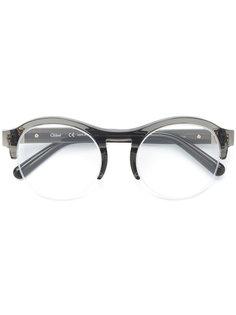 круглые очки из ацетата Chloé Eyewear