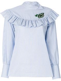 блузка с отделкой оборками Vivetta