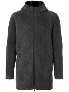 панельное пальто с капюшоном Giorgio Brato