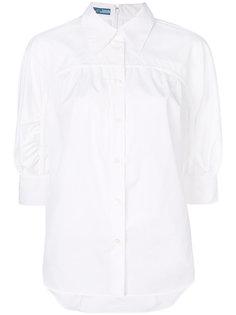 рубашка с завязкой на воротнике Prada