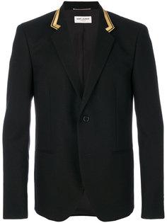 пиджак с вышивкой на воротнике Saint Laurent