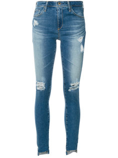 рваные джинсы с асимметричным низом Ag Jeans