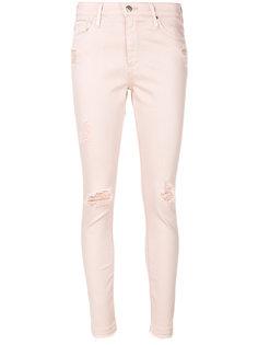 облегающие рваные джинсы Ag Jeans