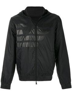 куртка с капюшоном с принтом с логотипом Armani Jeans