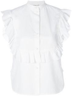 рубашка без рукавов с оборчатой манишкой Helmut Lang