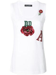 майка с розой Dolce & Gabbana