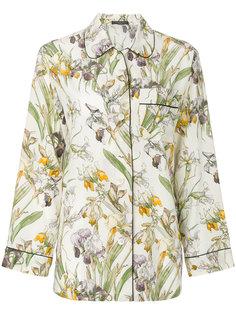пижамная рубашка с цветочным принтом  Alexander McQueen