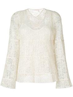 плиссированная блузка с V-образным вырезом See By Chloé