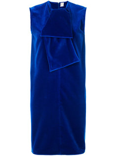 бархатное платье-шифт с воротником с завязкой Maison Rabih Kayrouz