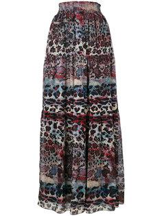 расклешенная юбка с рисунком Just Cavalli
