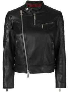 байкерская куртка без воротника  Dsquared2