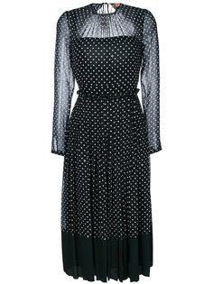 платье в складку с узором в горох Nº21