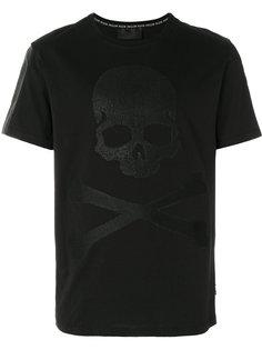 футболка с вафельным принтом черепа и перекрещенных костей Philipp Plein